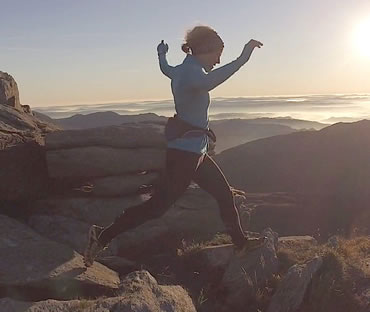 RAW Adventures - Kate running Tryfan